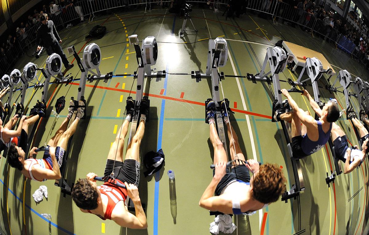 Leichtgewichtsserie an der Swiss Rowing Indoors, Foto von Raphael Nadler